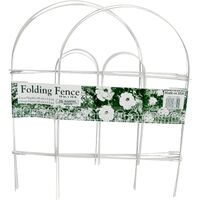18X10 FOLDING WIRE FENCE WHITE