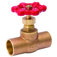 Low Lead Stop Valve CxC Ends, 1/2""