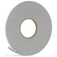 "Foam Tape, 3/8"" x 1/4"" x 17' Grey"