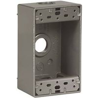 Arrow Hart 1113-SP 3-Hole Weatherproof Outlet Box