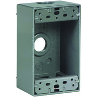 "1/2"" Single Gang Aluminum Outlet Box"