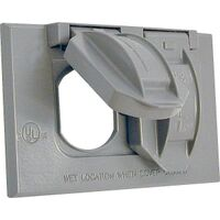 1 Gang Duplex Receptacle Cover Gray