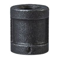 Black Malleable Coupling, 1/4""