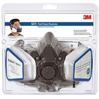 3M Tekk 6211PA1-A/R6211 Dual Cartridge Paint Spray Respirator
