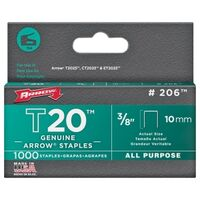 Arrow Flat Crown Staples, 3/8""