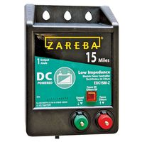 Zareba EDC15M-Z Low Impedance DC Powered Electric Fence Charger