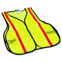 MSA 817890 High Visibility Reflective Safety Vest With Side Straps