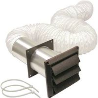 Lambro 266B Louvered Bathroom Vent Kit