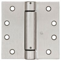 "Square Spring Hinge, 4"" x 4"" Satin Nickel"