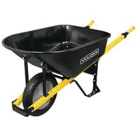 Steel Wheelbarrow with Flat Free Tire, 6 Cu'
