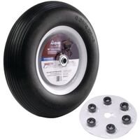 "Wheelbarrow Wheel Universal Flat-Free, 16"" 5/8"
