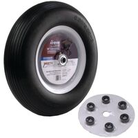 "Wheelbarrow Wheel Universal Flat-Free, 16"" 3/4"