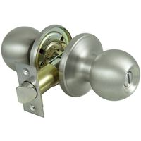 KNOB PRIVACY T3 6-WAY LATCH SS