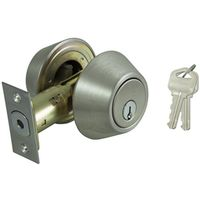 DEADBOLT DOUBLE CYL 6-WAY S/S