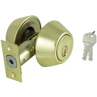 DEADBOLT DOUBLE CYL 6-WAY PB