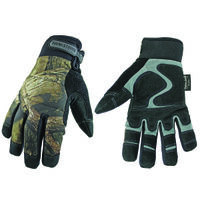 Waterproof Winter Camo Gloves, MED