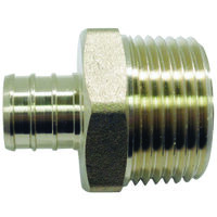Adapter Pex 3/4x1in Brass Male