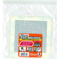 "Drywall Patch, 4"" x 4"" 3 Pk"