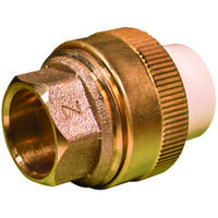 Low Lead CPVC Slip To Brass Slip Transition Union, 1/2""