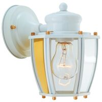 One Light Wall Lantern, White
