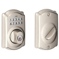 ELECTRONIC DEADBOLT STN NICKEL