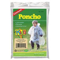 PONCHO PLASTIC CLEAR 30X40IN