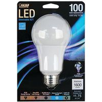 BULB LIGHT LED 100W A19 5000K