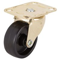 CASTER PLATE 1-5/8IN BRS/BLK