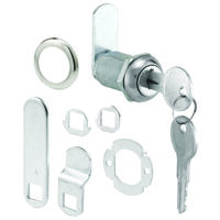 "Three Cam Cam Lock, 1 1/8"" x 13/16"" Chrome"