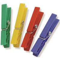 CLOTHESPIN PLASTIC SPRING 50PK