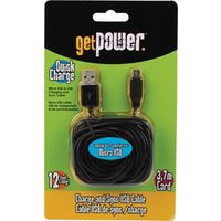 CABLE MICRO USB GET POWER 12FT