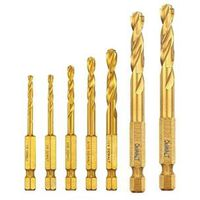 DRILL BIT SET TITANIUM 7PC