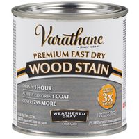 STAIN WOOD INT WTHR GRAY 1/2PT