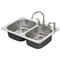 SINK DBL BOWL S/S FAIRPORT KIT