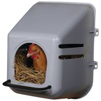 LITTLE GIANT 163620 SINGLE CHICKEN NESTING BOX, PLASTIC