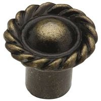 KNOB DECO ANT BRASS 3/4IN