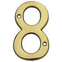 HOUSE NUMBER NO8 SLD BRASS 4IN