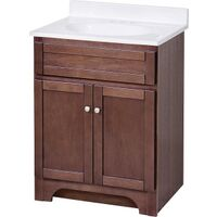 "Bathroom Vanity Combination, 24"" x 18"" Cherry"