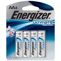Energizer L91BP-4 Non-Rechargeable Cylindrical Lithium Battery