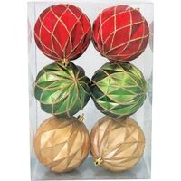 ORNAMENT 100MM 6PC