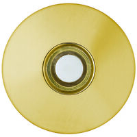 Stucco Lighted Doorbell Button, Brass