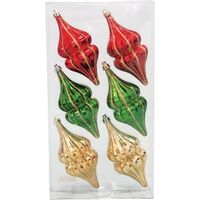ORNAMENT FINIAL 5IN 6PC