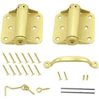 Adjustable Screen Door Kit, Satin Brass
