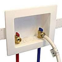 washing machine outlet box faceplate