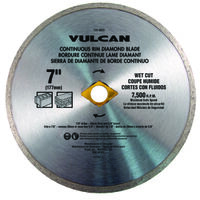 Diamond Continuous Rim Circular Saw Blade, 7""