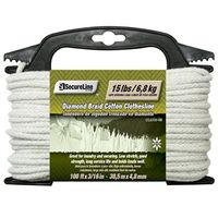 Lehigh CCL6100-4W Solid Braided Clothesline