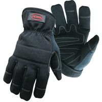 GLOVE BLACK UTILITY PADDED MED