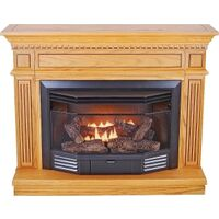 Dual Fuel Gas Fireplace, 24,000 Btu Oak