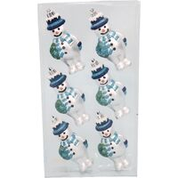 ORNAMENT 4IN SNOWMAN 6PC