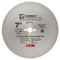 Continuous Rim Wet Tile Circular Saw Blade, 7""